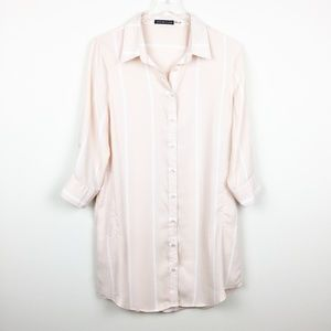 Hot & Delicious | Blush Pink Shirt Dress w Pockets